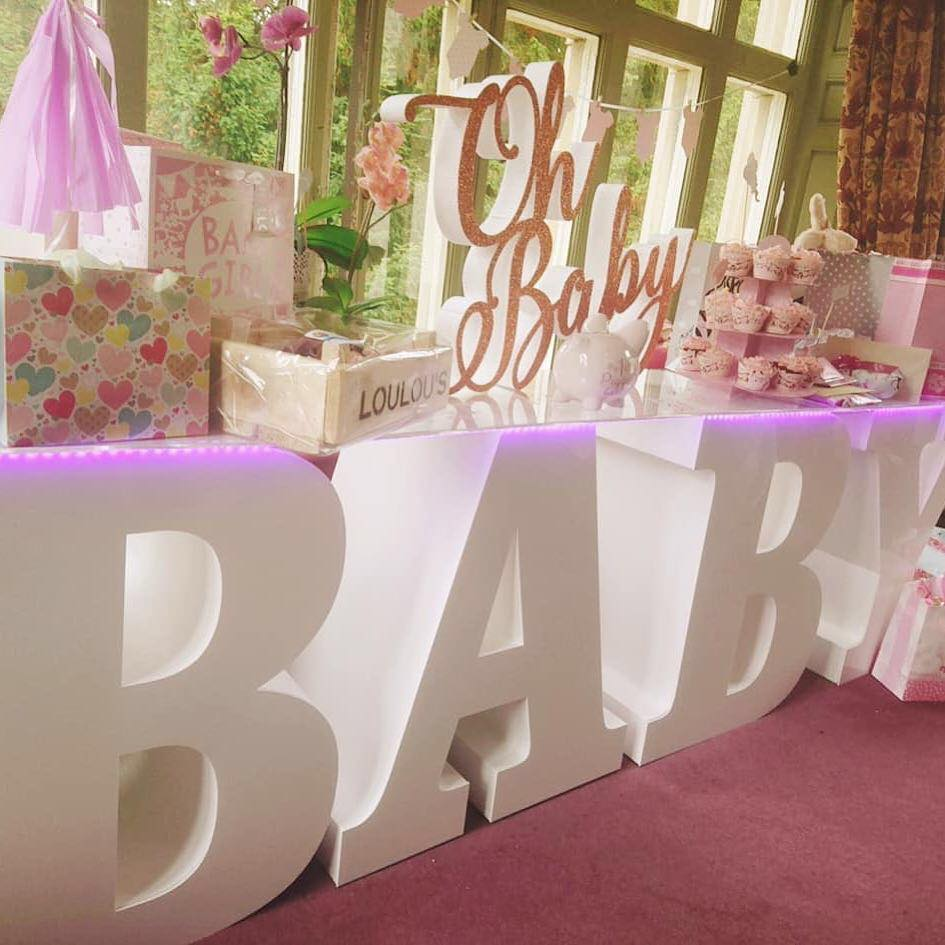 Baby Letter Table Hire