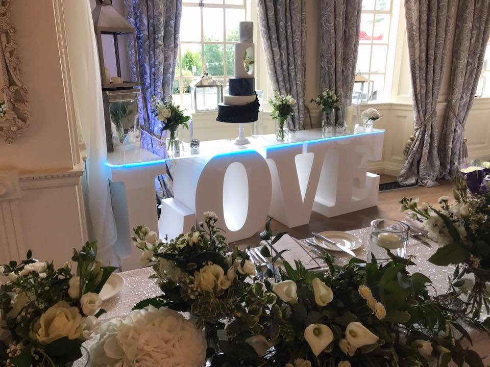 Love Letters Table Hire