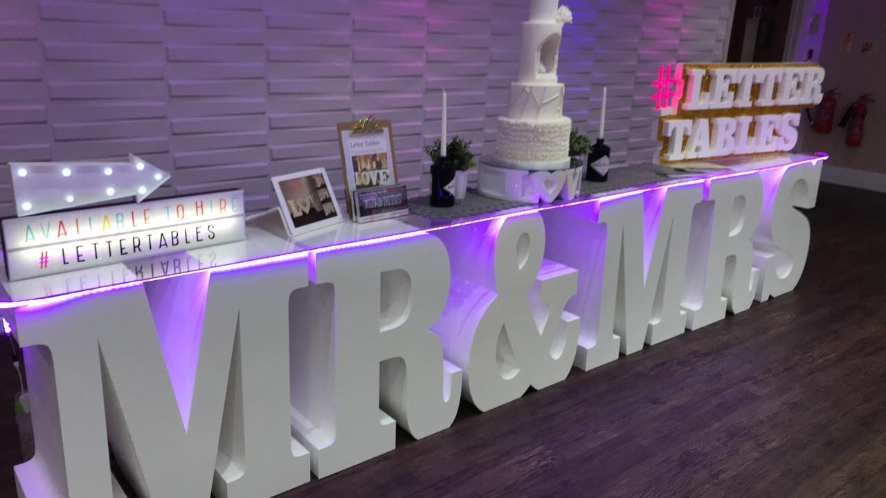 Mr Mrs Letter Table